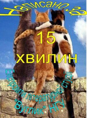 Обкладинка НАПИСАНО  ЗА 15 ХВИЛИН