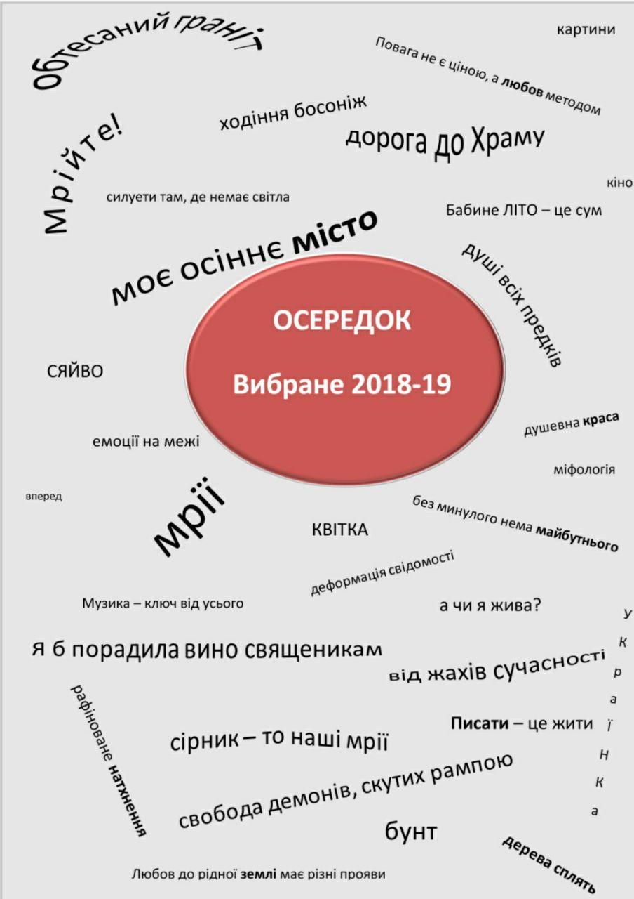 Обкладинка Осередок. Вибране 2018-19